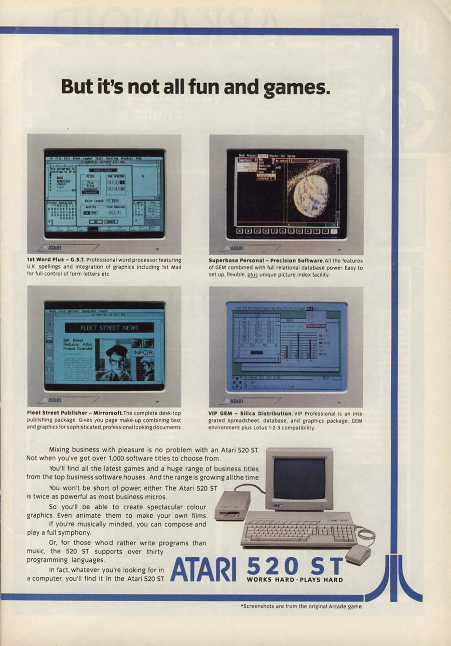 Atari ST 1ST Word Plus : scans, dump, download, screenshots, ads