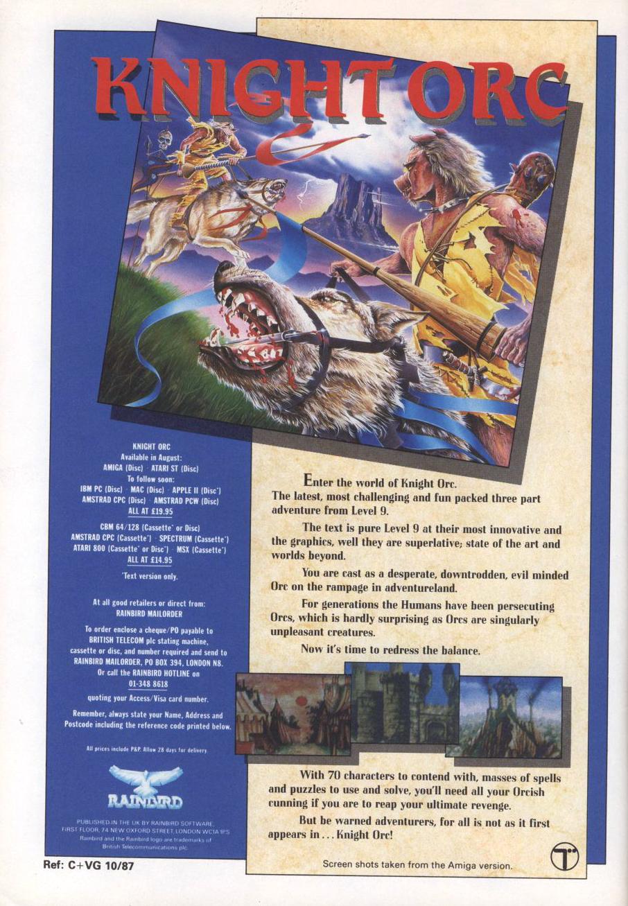 Atari 400 800 XL XE Knight Orc : scans, dump, download, screenshots