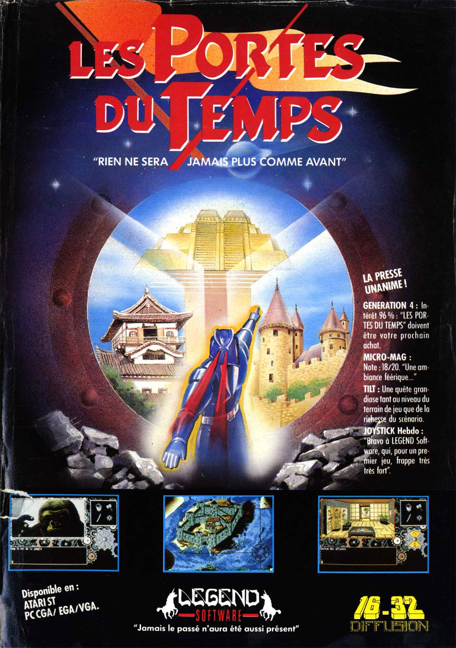 Atari st portes du temps les scans dump download screenshots ads videos catalog - Les portes du penitencier original ...