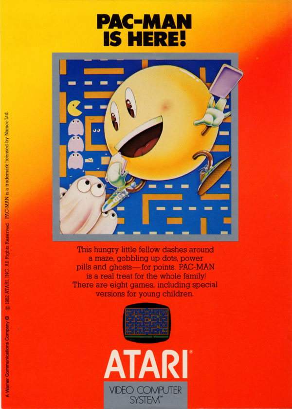 Pac Man Arcade Flyer Atari 2600 vcs pac-man : scans