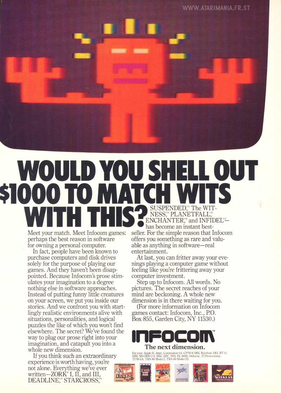 Atari 400 800 XL XE Zork I : scans, dump, download