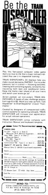 Train Dispatcher Atari ad