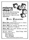 micro dice!! you roll the dice & develop the strategy...