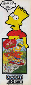 Simpsons - Bart vs the Space Mutants (The) Atari ad