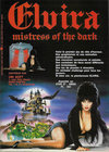 Elvira - Mistress of the Dark Atari ad