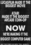 Star Wars Atari ad