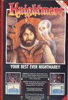 Knightmare - The Computer Game Atari ad