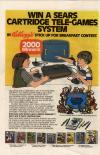 Win a Sears Cartridge Tele-Games System.