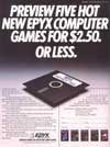 Preview five hot new Epyx computer games for $2.50