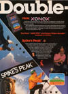 Ghost Manor / Spike's Peak Atari ad