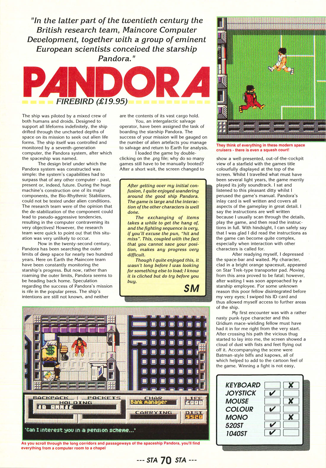 atari st pandora scans dump screenshots ads videos pandora atari review
