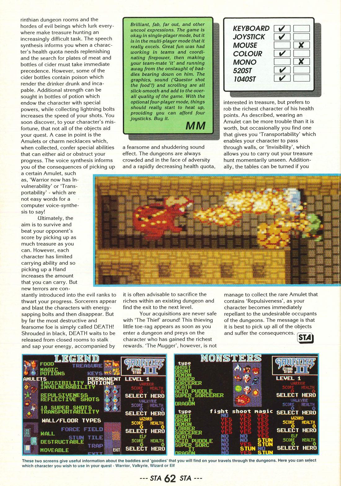 Atari ST Gauntlet II : scans, dump, download, screenshots