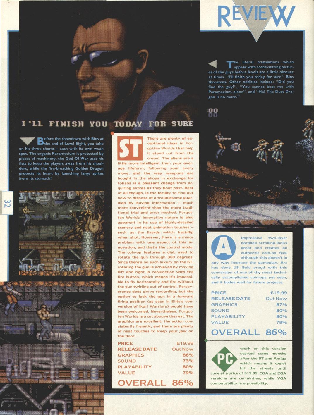 Atari ST Forgotten Worlds : scans, dump, download