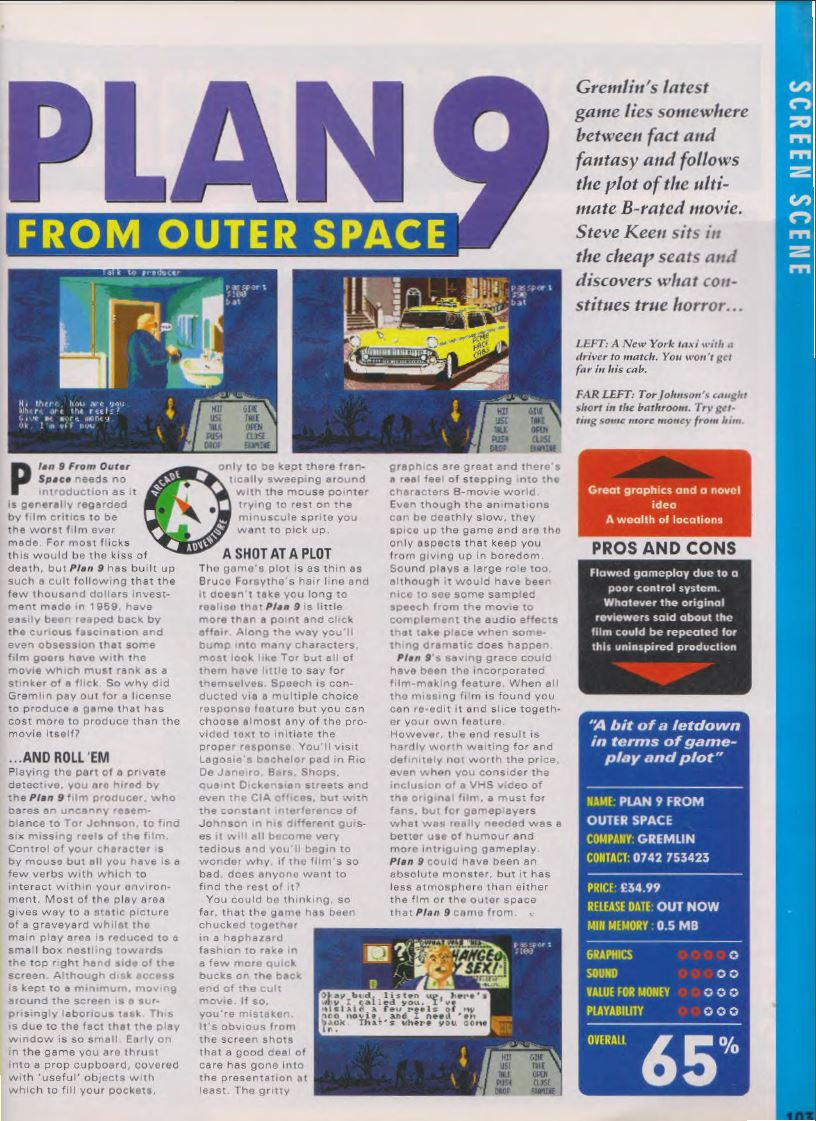Atari st plan 9 from outer space scans dump download for Outer space planning and design group