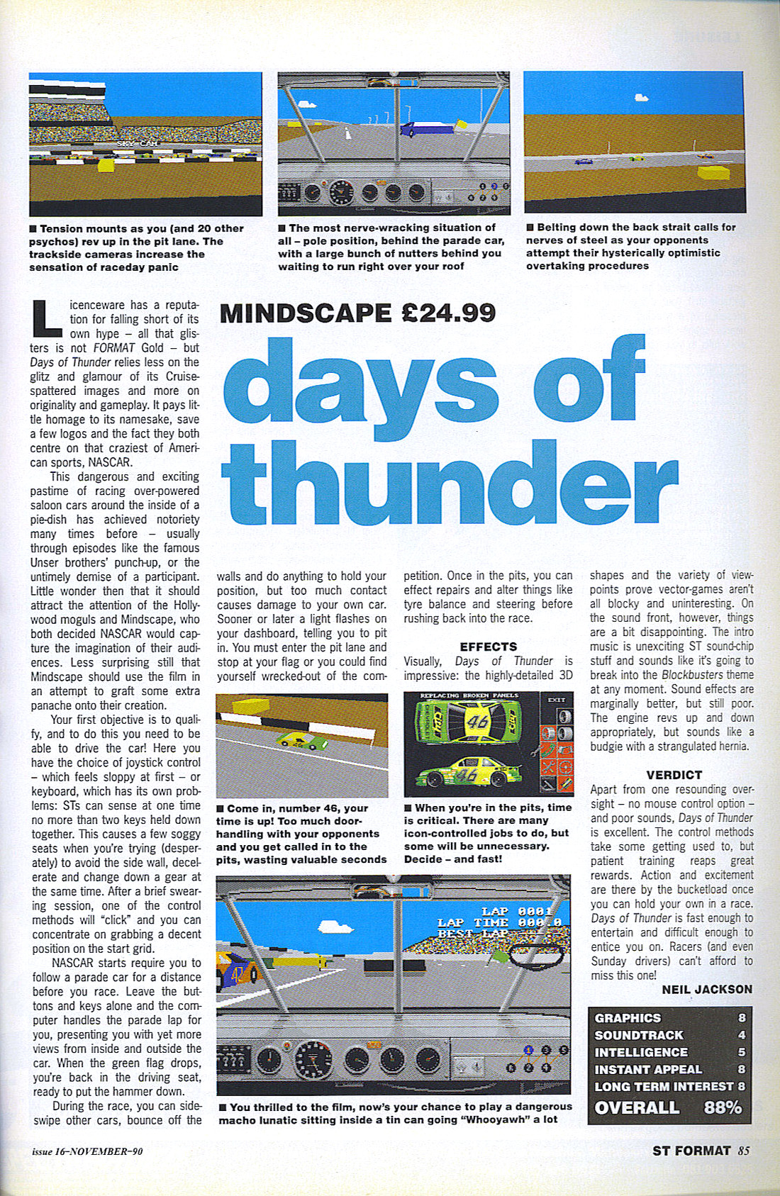 Book / Magazine Reviews - Days of Thunder