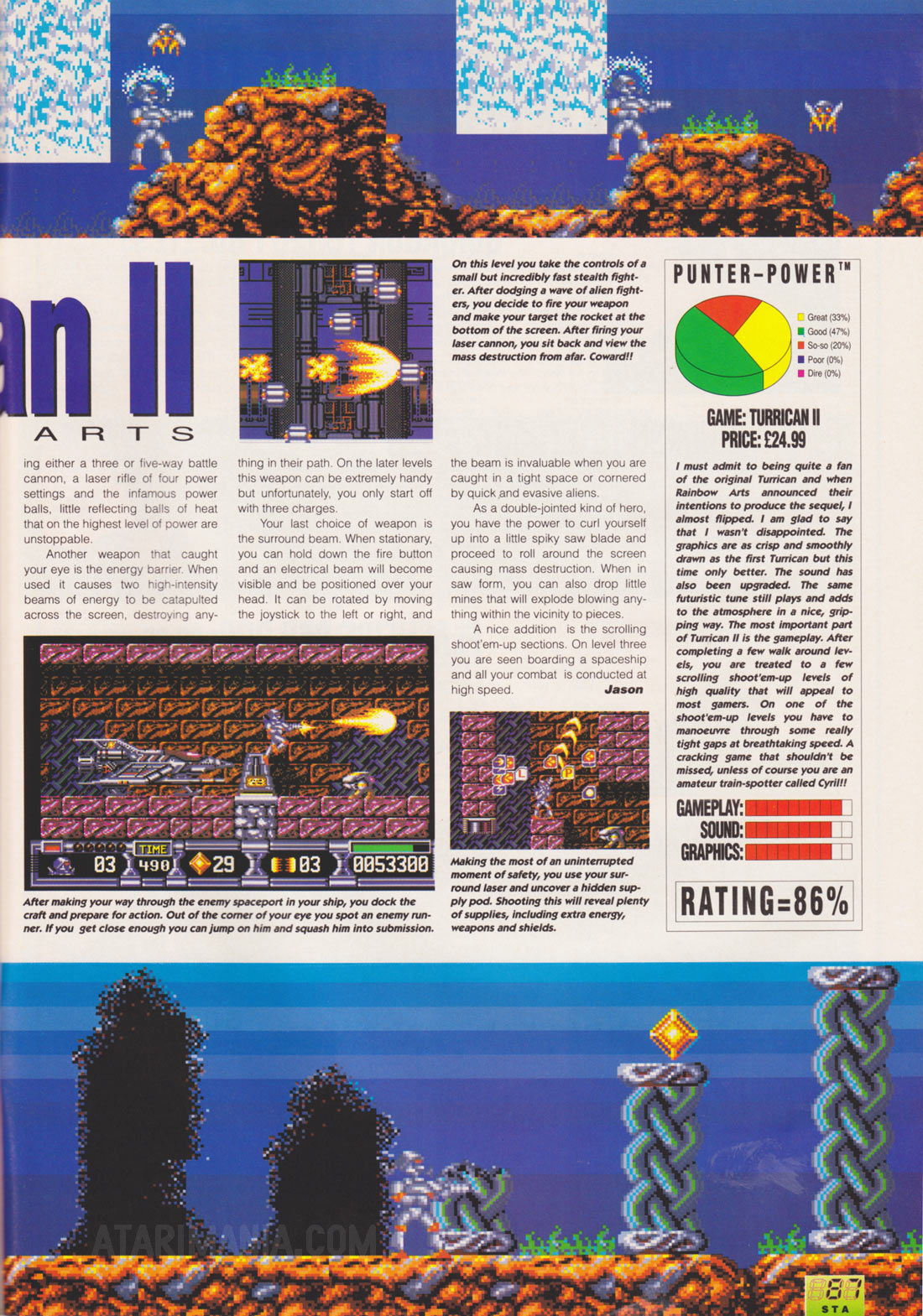 Atari ST Turrican II - The Final Fight : scans, dump