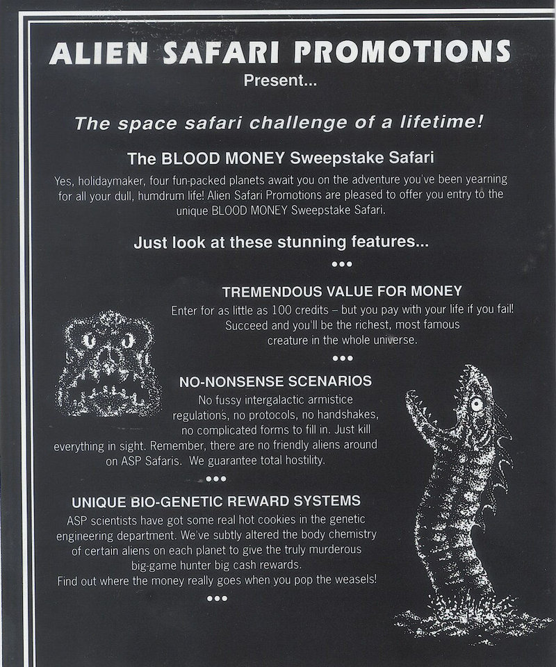 Atari ST Blood Money : scans, dump, download, screenshots, ads