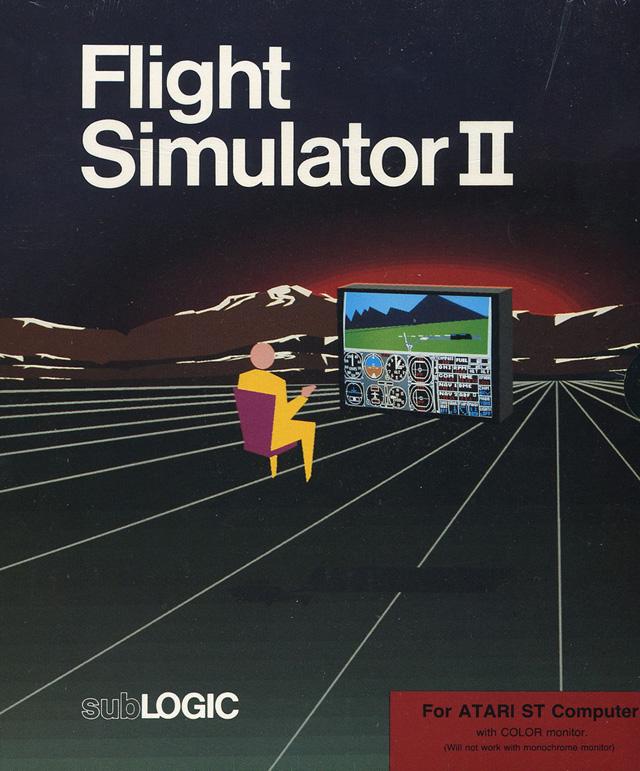 Atari ST Flight Simulator II : scans, dump, download