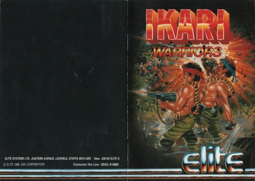 Ikari Warriors Atari instructions