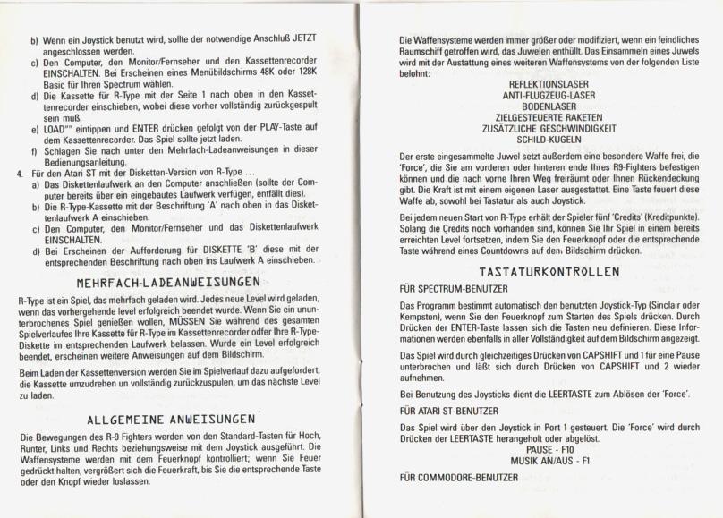 Souvent Atari ST R-Type : scans, dump, download, screenshots, ads, videos  IJ82