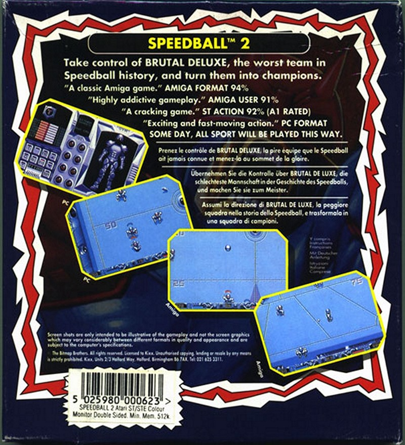 https://www.amazon.co.uk/Speedball-2-Brutal-Deluxe-Japan/dp/B0001488LS