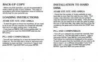Another World Atari instructions