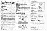 Barbarian II - The Dungeon of Drax Atari instructions