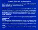 Carrier Command Atari instructions
