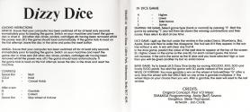 Dizzy Dice Atari instructions