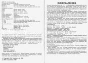 Ikari Warriors Atari instructions