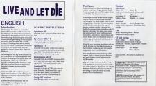 Live and Let Die Atari instructions