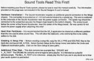 Sound Tools Atari instructions