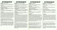 Strider Atari instructions