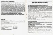 Super Wonder Boy in Monsterland Atari instructions