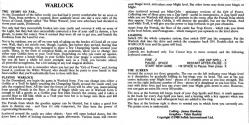 Warlock Atari instructions