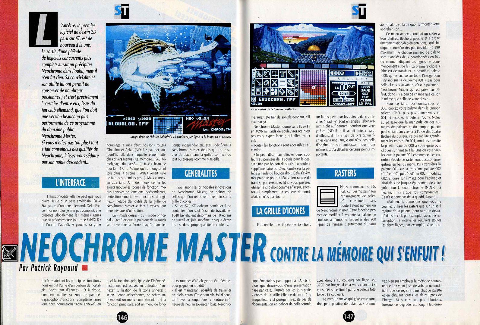 Atari St Neochrome Master Scans Dump Download Screenshots Ads