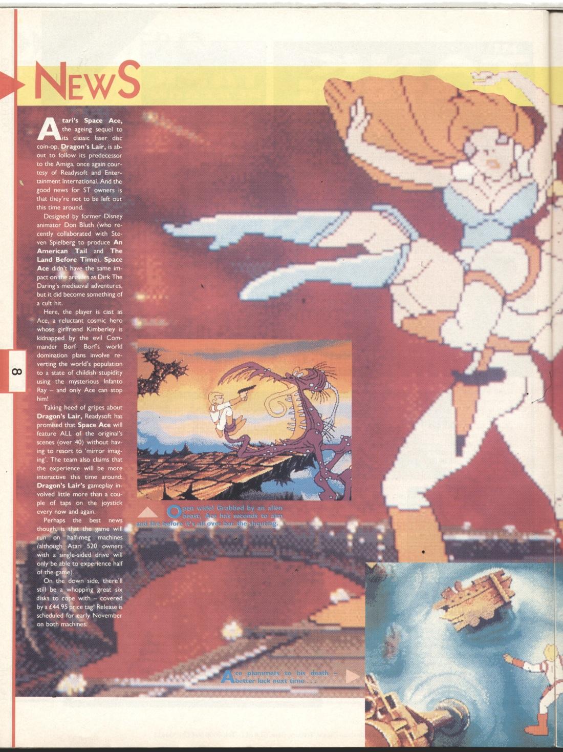 Atari ST Space Ace : scans, dump, download, screenshots