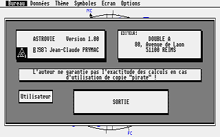 Astrovie atari screenshot