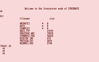 Cybermate atari screenshot