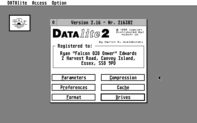 DATAlite atari screenshot