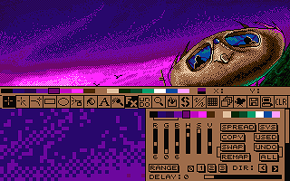 Deluxe Paint ST atari screenshot