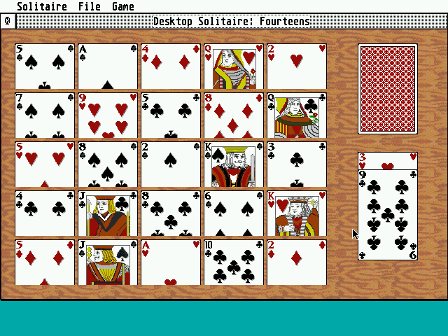 Desktop Solitaire atari screenshot
