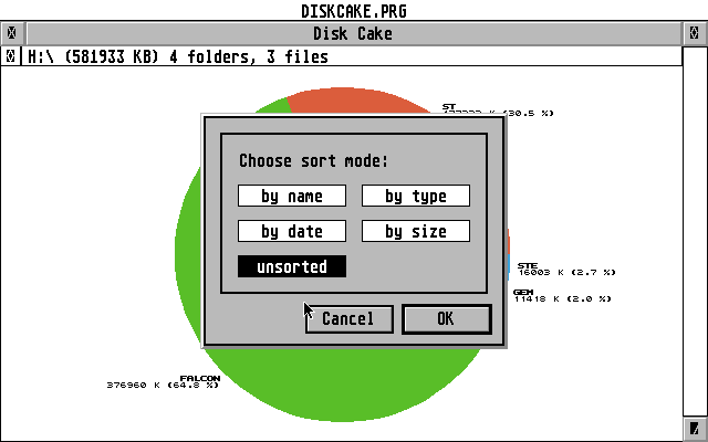 Disk Cake atari screenshot