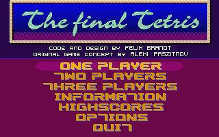 Final Tetris (The) atari screenshot