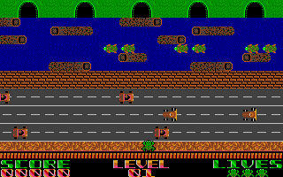 Frogger! atari screenshot