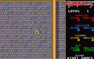 Gauntlet atari screenshot