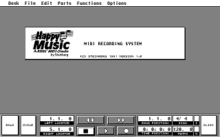 Happy Music Atari MIDI Studio