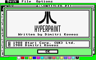 HyperPaint atari screenshot