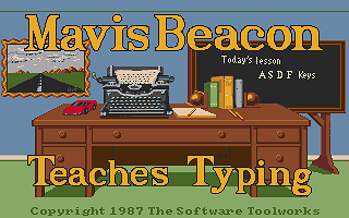 Mavis Beacon Teaches Typing! atari screenshot