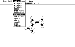 Molgraph atari screenshot